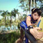 Cosplay do dia: Luna Gabriella (Chun-Li Alpha)