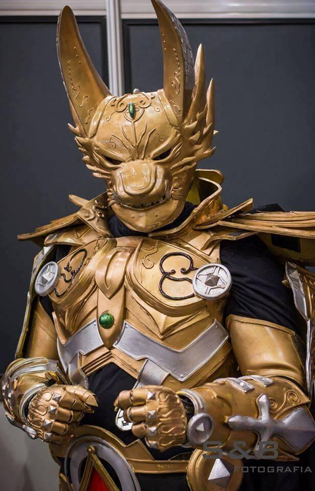 Cosplay do dia Fabio Fernandes Golden Knight Garo