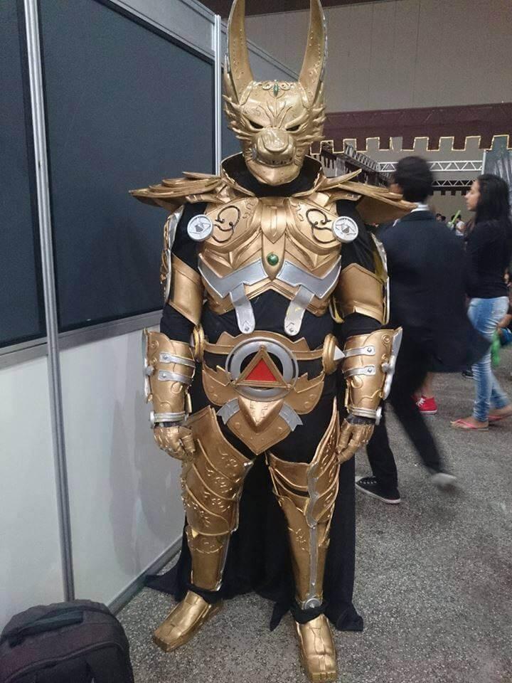 Cosplay do dia Fábio Fernandes Golden Knight Garo